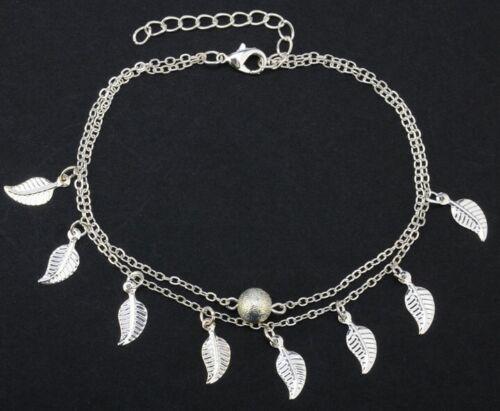 """11/"""" Women Girl Chain Tassel Leaf Bead Beach Ankle Bracelet Foot Anklet Gift AG"""