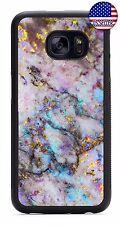 Marble Stone Granite Rubber Case For Samsung Galaxy S4 S5 S6 S7 Edge S8 Plus