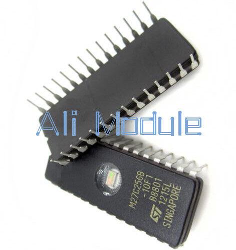 5 PCS NEW  IC M27C256B-10F1 27C256 CDIP-28 ST UK
