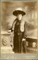 Victorian Cabinet Photo -  LADY - COSTUME -
