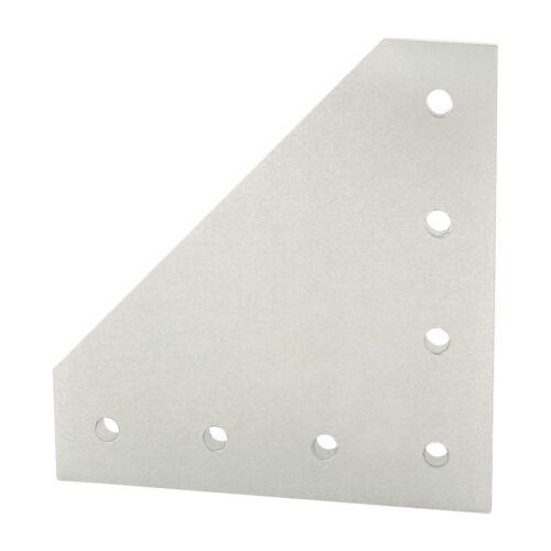 80//20 Inc 7 Hole 90 Degree Angled Squared Flat Plate 40 Series #40-4352 N
