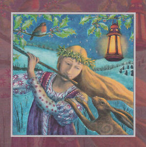 Yule xmas greeting card hare tune pagan wiccan winter solstice wendy image is loading yule xmas greeting card hare tune pagan wiccan m4hsunfo