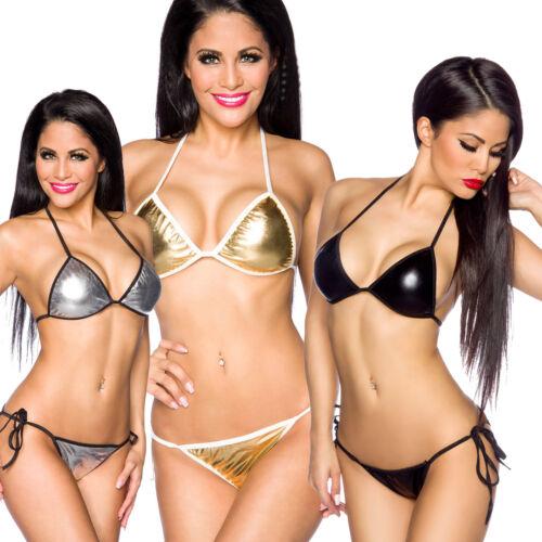 Bademode Bikini Triangel one size glanz 2-Teiler