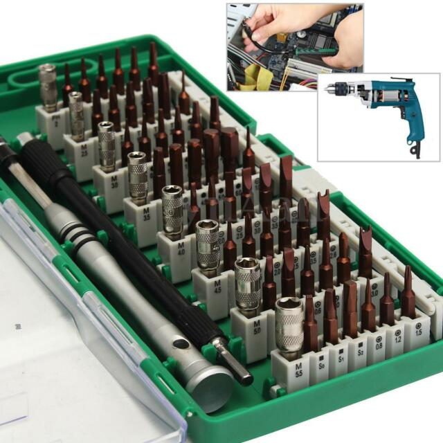 60 in 1 S2 Tool Steel Precision Screwdriver Nutdriver Bit Repair Tools Kit Sets