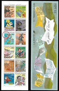 Timbres-France-Neufs-1993-Carnet-Variete-N-BC2848c-accent-sur-le-034-E-034-de-034-AVEC-034