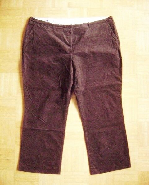 @ Lands' End @ Classic Cords Dark Brown Size 56 Us 3x 24w Fr 58 8xl
