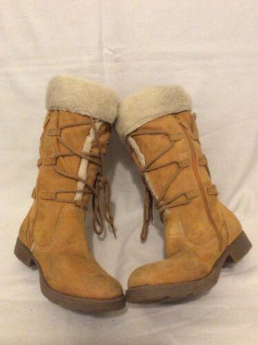 Geox pierna cuero media Botas tamaño de a beige 4 1zFwnAqP