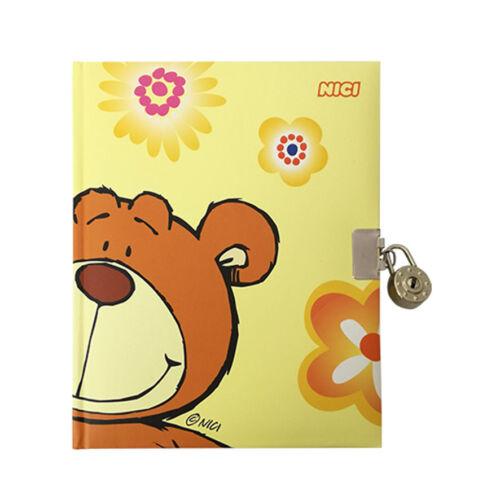 Nici peluche Diario segreto con lucchetto per bambini orso giallo