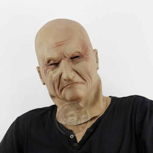 Latex Old Man Mask Halloween Scary Mask Party Terror Male Head Rubber Adult Size