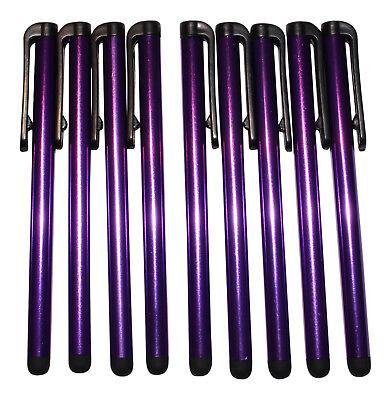 10x Lila Stylus Eingabestifte Touch Pen Stift Touch Tablet Handy Lang Kataloge Werden Auf Anfrage Verschickt