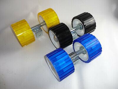 Halterung Sliprolle Bootsauflage Kielrolle Rolle 200 mm aus Polyvinyl gelb inkl