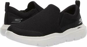 Skechers-Men-039-s-GO-Walk-Evolution-Ultra-Impeccable-Sneaker-Black-White-SZ-8-11