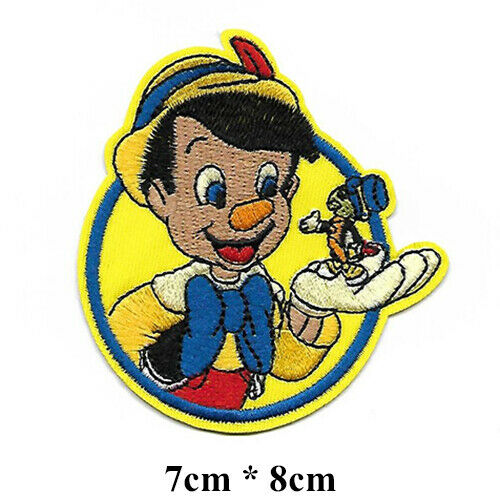 Iron-on//Sew-on Embroidered Patch 7x8cm pat0934 Disney Pinocchio