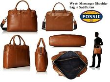Fossil Wyatt Work Bag Saddle MBG9228216