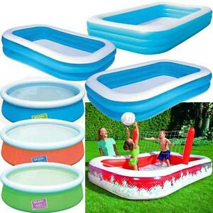 Large family swimming pool garden outdoor summer inflatable kids paddling pools ebay for Large swimming pools for gardens