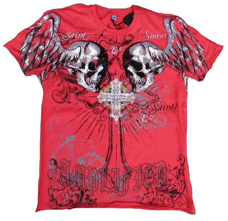 Amplified saint & strass traditionnel HOLY skull strass & rock star Desinger vip t-shirt G.M 50 eb03eb