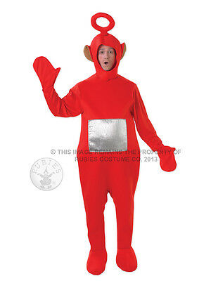 Adult Licensed Teletubbies Red Po Fancy Dress Costume Cbeebies Teletubby BN