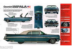 1959 Chevy Impala Imp Brochure Dans La Douleur