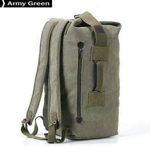 Travel-Bag-Mountaineering-Backpack-Male-Canvas-Bucket-Shoulder-Bags-Army-Green