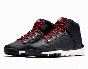 Details about Nike SB Dunk High Jungle Boot BLACK RED LEATHER MOUNTAIN Men's sz 9.5 NEW NWOB