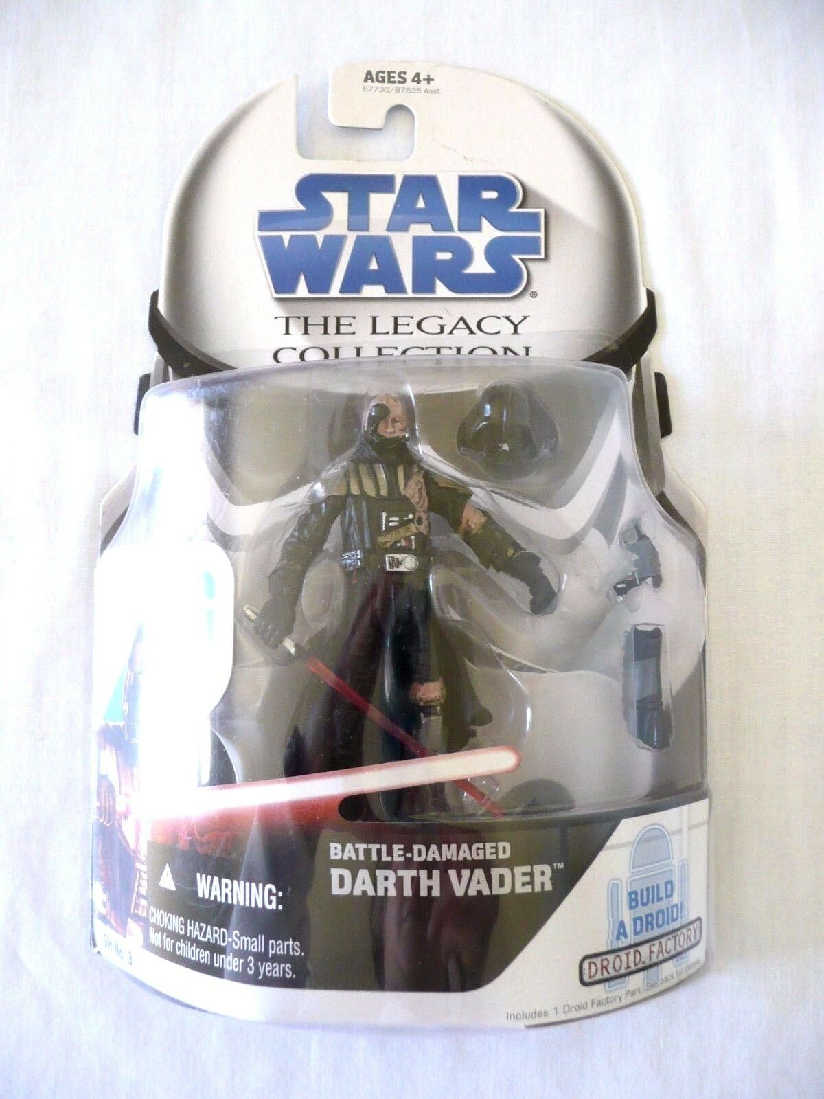 Star Wars Legacy Collection Battle Damaged Darth Vader Action Figure, Droid, NEW