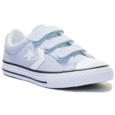 Converse Star Player Ox Kids Porpoise Canvas Trainers