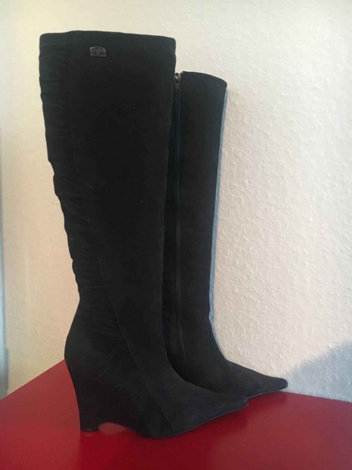 Buffalo High Heel Stiefel 10 cm Wedgeabsatz Neuwertig