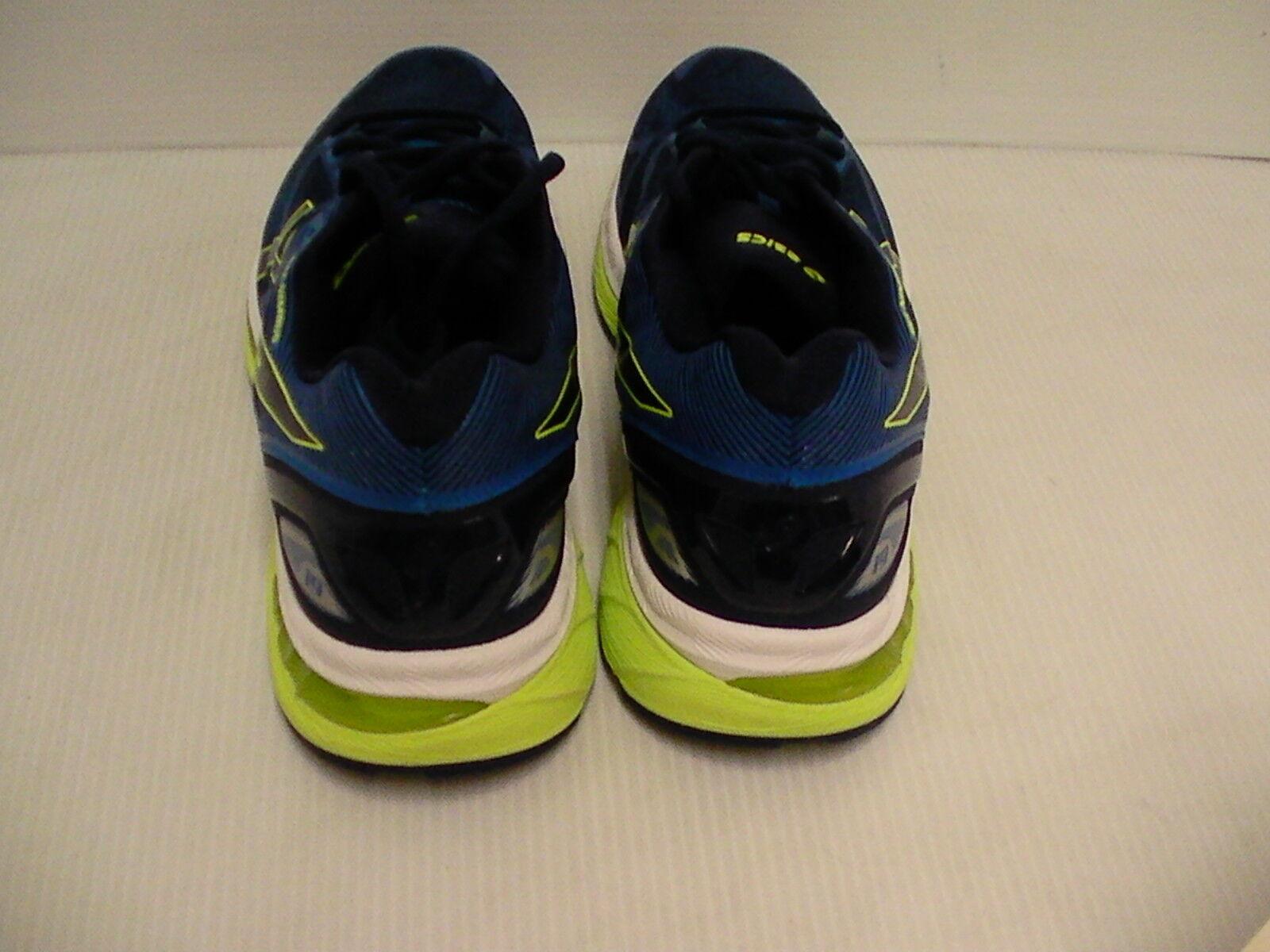 Hommes Chaussures Asics Chaussures Hommes Course Gel Nimbus 19 Bleu Indigo Sécurité Jaune 8c092e