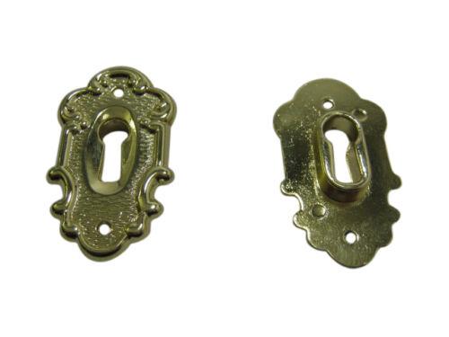 10 x Schlüsselschild Schlüsselschilder Möbelschild Zierschild vermessingt