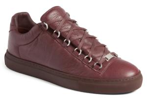 NIB Balenciaga Arena Opaque red Red Flat Trainer Low Top Sneaker 40 Mens 7