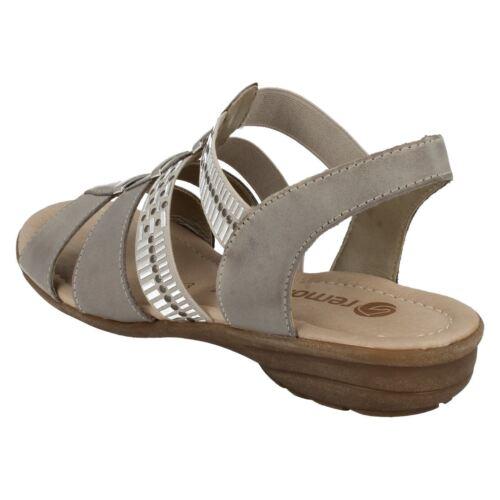 Dames grijze Remonte neus sandalen open R3644 f6gYb7y