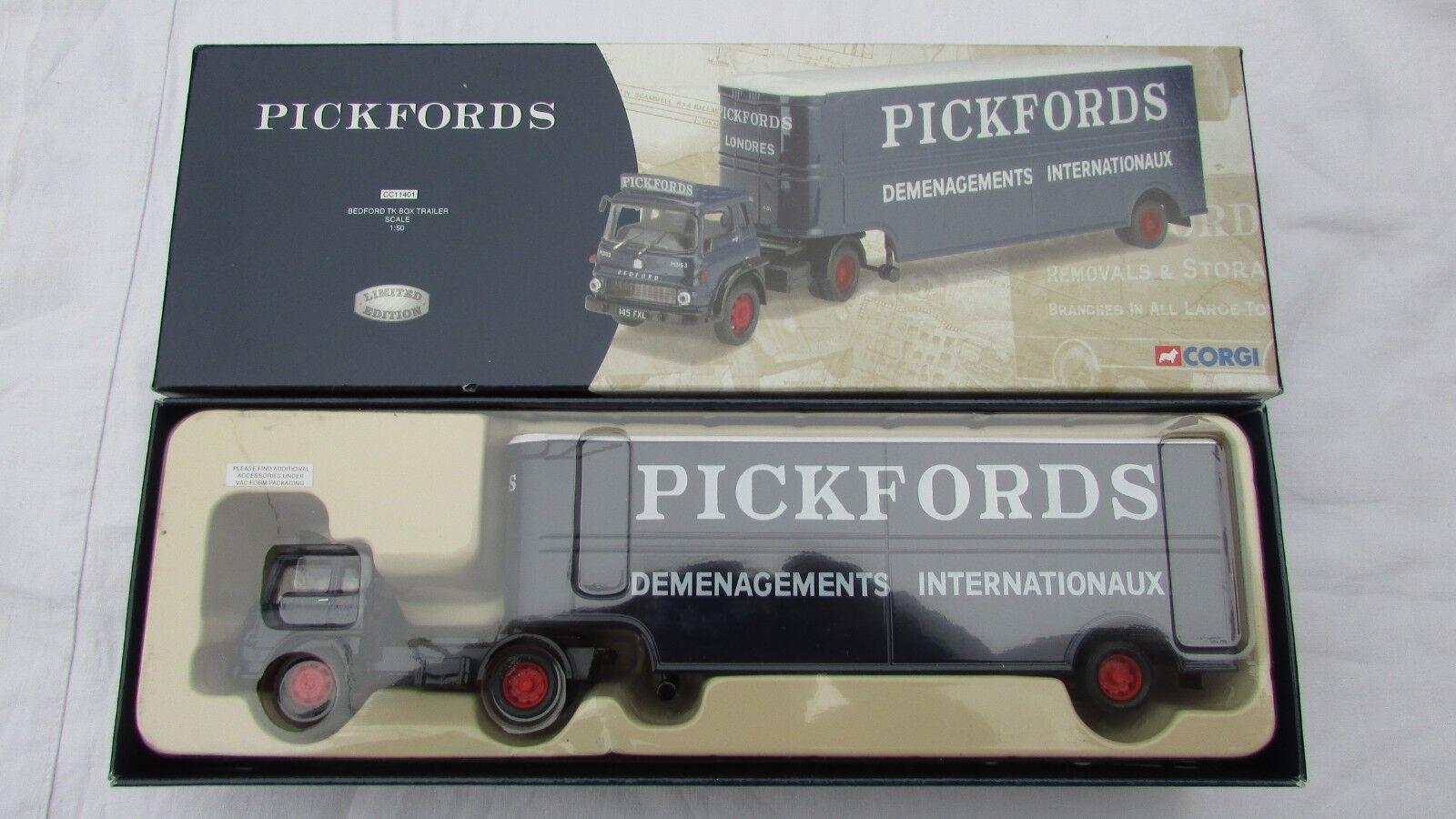 Corgi CC11401 pickfords Bedford TK box trailer ltd edition BNIB FREEPOST