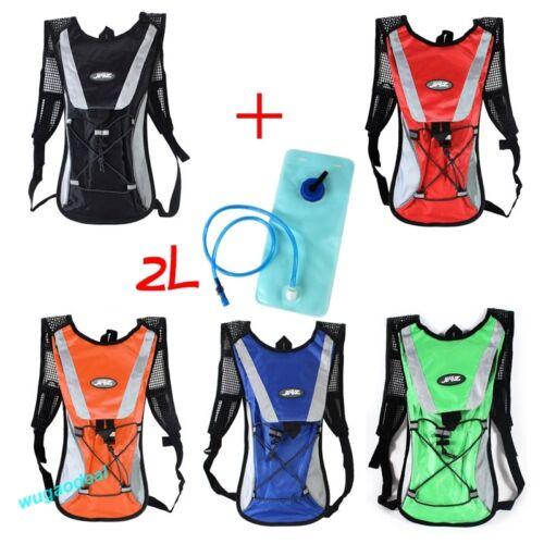 2L Water Bladder Bag Rucksack Cycling Hiking Camping Pack Backpack