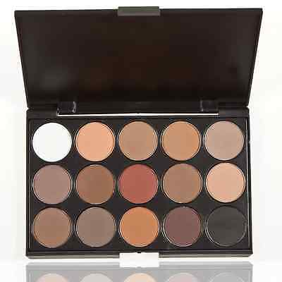 Pro 15Colors Warm Nude Matte Shimmer Eyeshadow Palette Makeup Cosmetic