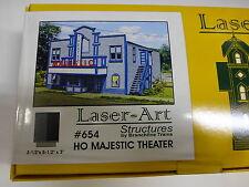 """Branchline HO #654 Majestic Theater Kit (7"""" x 5-1/2"""" x 3"""") Laser-Art"""