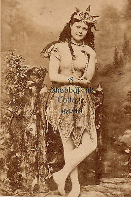 Vintage Beach Photo Bathing Beauty Mermaid Neptune's Daughter Long Hair RePrint