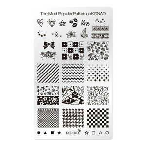 Image Is Loading Konad Stamping Nail Art Square Plate The