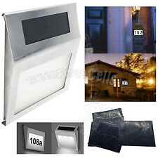 Solar Powered 2 LED Light Sign House Hotel Door Number Digits plate Wall Lamp