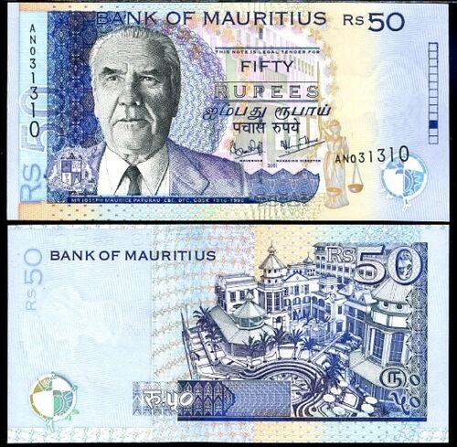 MAURITIUS 50 RUPEES 2001 P 50 UNC