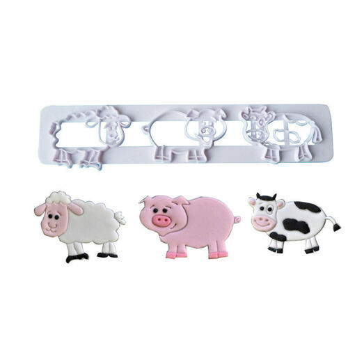 Farm Animal Shape Plastic Cookie Cutter Mould Pastry Biscuit Mold Tool DIY A600