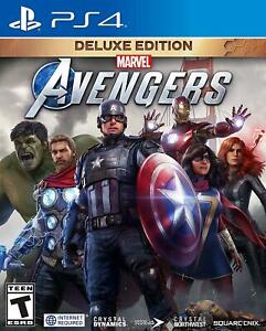 Marvel's Avengers: Deluxe Edition PS4 (Sony PlayStation 4, 2020) Brand New