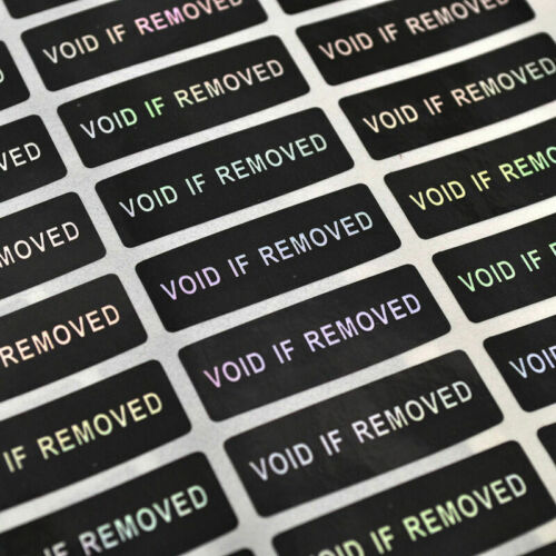 120PC Hologram VOID IF REMOVED Labels Security Tamper Evident Seals Sticker DIY