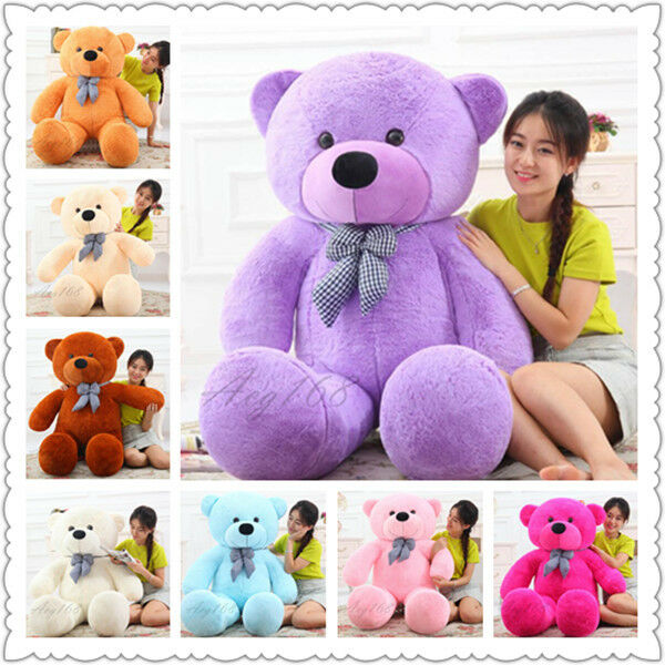 80-220cm Giant Big Teddy Bear Plush Large Stuffed Doll Toys Kids Birthday Gifts