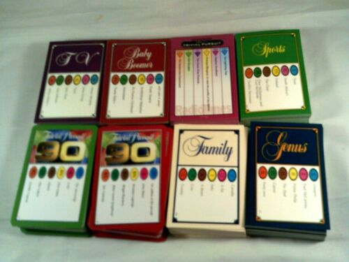 Trivial Pursuit Question /& Answer Cards Packs of 50 Postage is for any quantity
