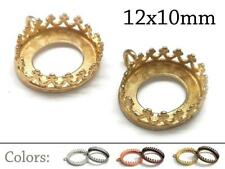 choose your plating 6pcs x Quality Cast 18mm Spiked Round Crown Bezel Cup Connector Plated Brass EVRD18PVAR
