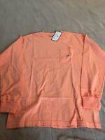 Ladies S Long Sleeve Peach Southern Shirt Company T-shirt $38 Retail