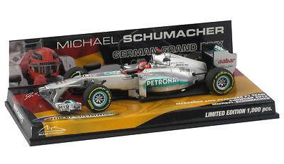 Michael Schumacher F1 Minichamps 1:43 German GP Hockenheim 2012 Showcar