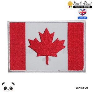Canada-National-Flag-Embroidered-Iron-On-Sew-On-Patch-Badge-For-Clothes-etc