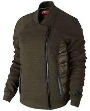 Nike Aeroloft Tech Fleece Moto Jacket Women's 800 Down Cargo Khaki Size Medium