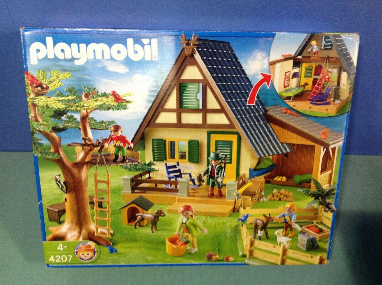 (O4207) Playmobil Casa Del Guardia Forestale Rif. 4207 in Scatola  Completo  basta comprarlo
